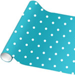 Caribbean Blue Polka Dot Wrapping Paper - 4.8m