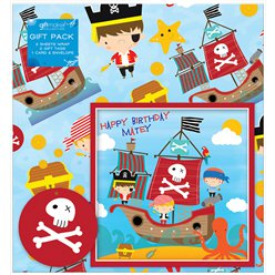 Pirate Gift Wrapping Pack - Paper, Card & Tags