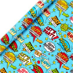 Comic Wrapping Paper Roll - 2m
