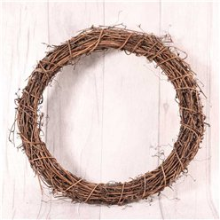 Natural Round Vine Wreath - 30cm