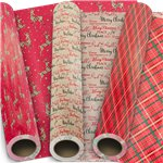 Contemporary Traditional Gift Wrap - 5m