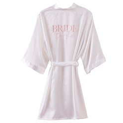 White Bride To Be Hen Party Dressing Gown
