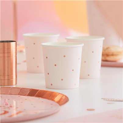 Rose Gold Foiled Paper Shot Cups - 114ml
