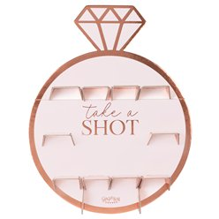 Rose Gold Hen Party Ring Shot Wall