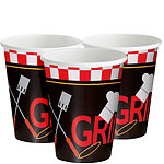 Backyard BBQ Cups - 255ml Paper Party Cups
