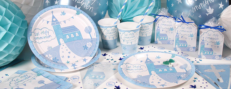Communion Church Blue Party Supplies