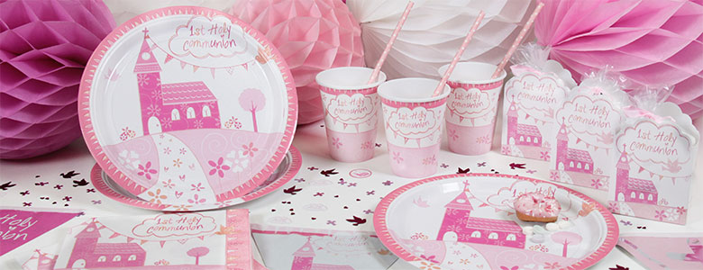 Communion Church Pink Party Supplies