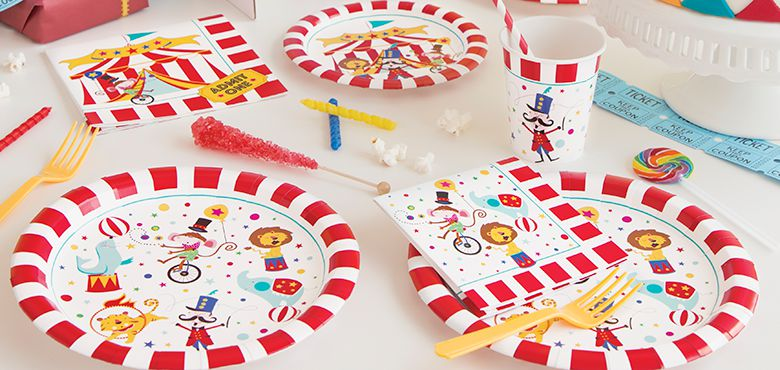 Circus Carnival Birthday Party Supplies