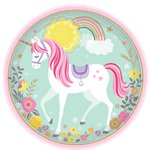 Magical Unicorn Plates - 23cm Paper Party Plates