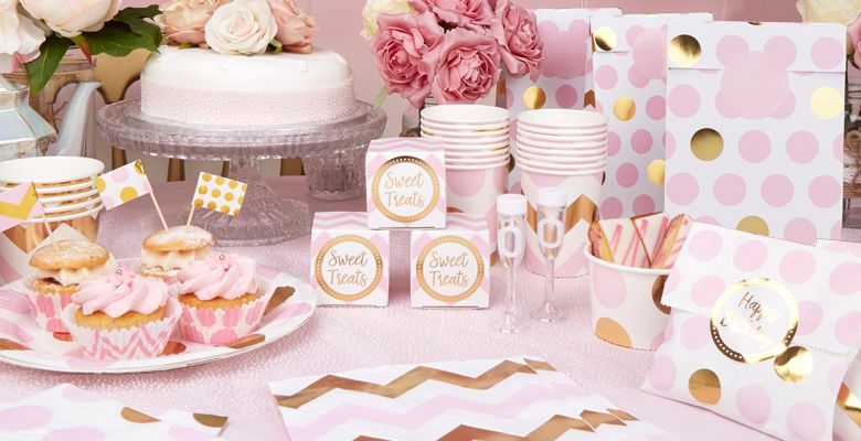 Pattern Works Pink Baby Shower Supplies