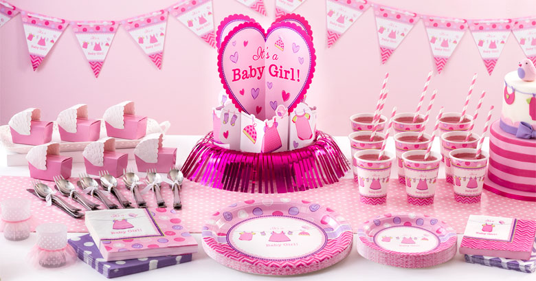 Shower With Love Girl Party Supplies
