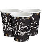 Sparkling Celebration Happy Birthday Party Cups - 266ml Paper Party Cups