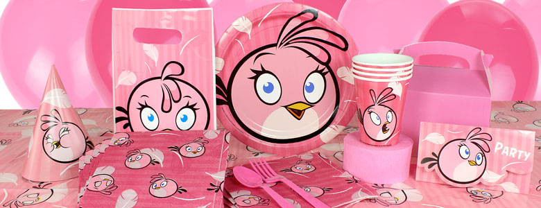 Pink Angry Birds Party Supplies Stella Delights Direct