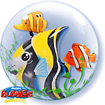 Tropical Fish Double Bubble Balloon - 24""
