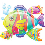"Tropical Fish Cluster Balloon - 30"" Foil"