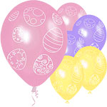 Easter Egg Design Assorted Pastel Balloons - 12