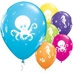 "Assorted Fun Sea Creatures Balloons - 11"" Latex"