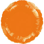 Orange Round Balloon - 18'' Foil
