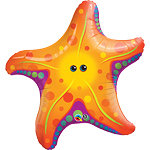 "Starfish Supershape Balloon - 30"" Foil"