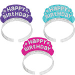Pink & Teal Glitter Party Tiaras