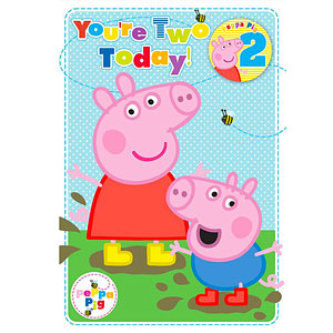 Pig 2nd birthday card peppa pig 2nd birthday card bookmarktalkfo Choice Image
