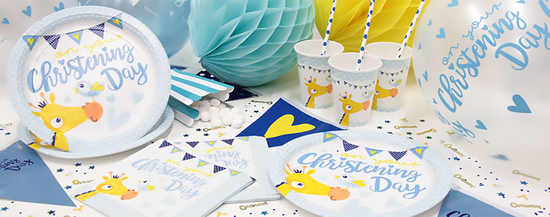 Blue Christening Day Party Supplies