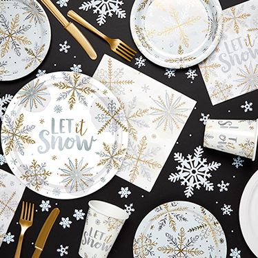 Christmas Tableware Cups Plates Napkins Delights Direct