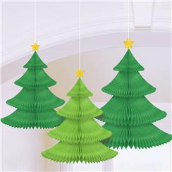 Tree Honeycomb Hanging Decoration - 35cm