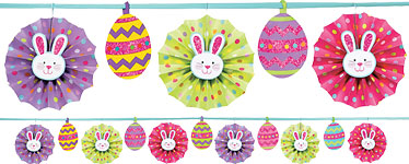 Paper Fan Banner - 3.65m Easter Decoration