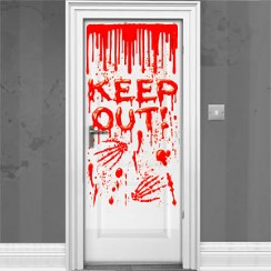 Halloween window door decorations delights direct for Decoration porte halloween