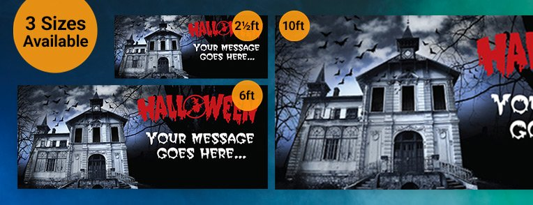 Halloween Personalised  Banners