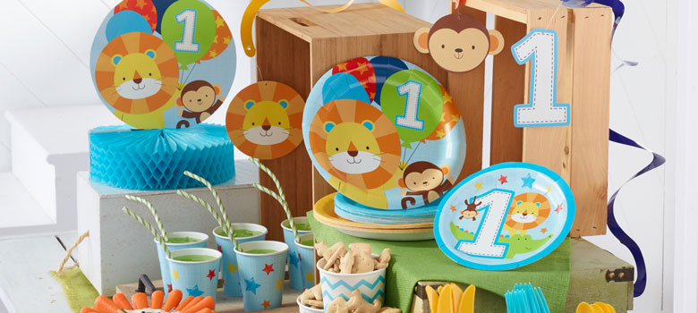 One is Fun Blue – 1st Birthday Party Supplies