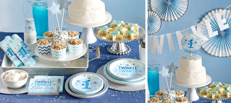 One Little Star Blue Party Supplies