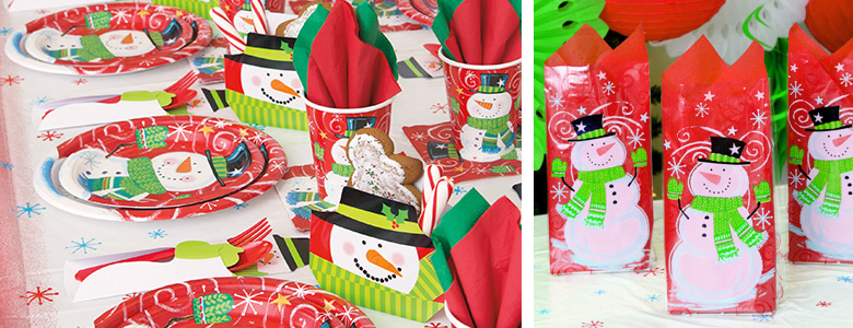 Snowman Swirl Party Supplies