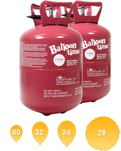 Helium Canister Saver Kit for 60 Balloons (2 Cylinders)