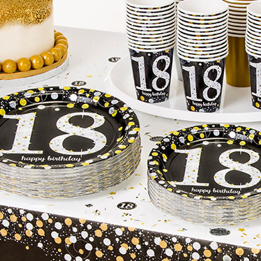 18th Birthday Party Supplies Sparkling Celebration