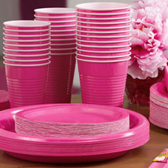Hot Pink Partyware