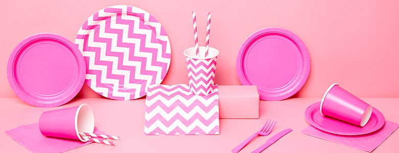 Hot Pink Party Tableware