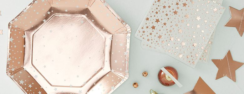 Rose Gold Metallic Star Party Supplies