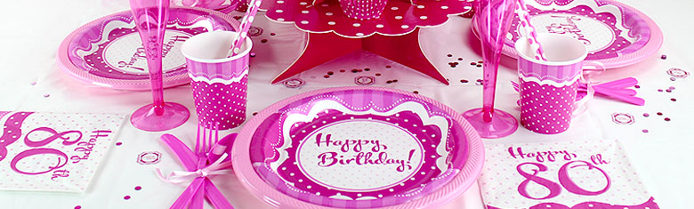Perfectly Pink Party 80th Birthday Party Delights Direct