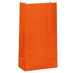 Orange Party Bags - Paper 25cm