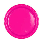 Hot Pink Plates - 18cm Paper Plates