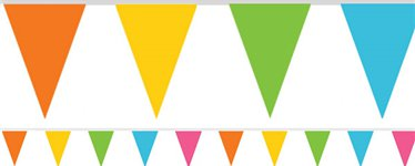 Multicoloured Paper Bunting - 4.5m