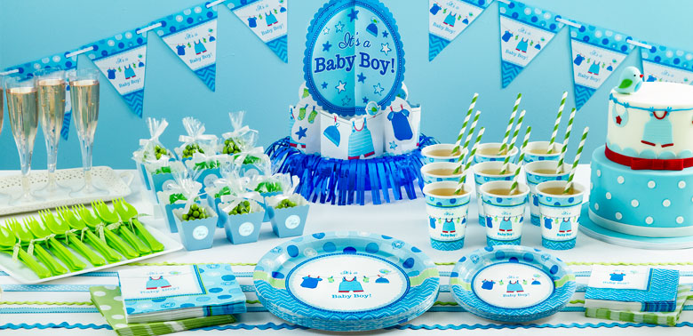 Boy's Shower With Love Party Supplies