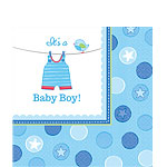 Boy's Shower With Love Luncheon Napkins - 2ply Paper