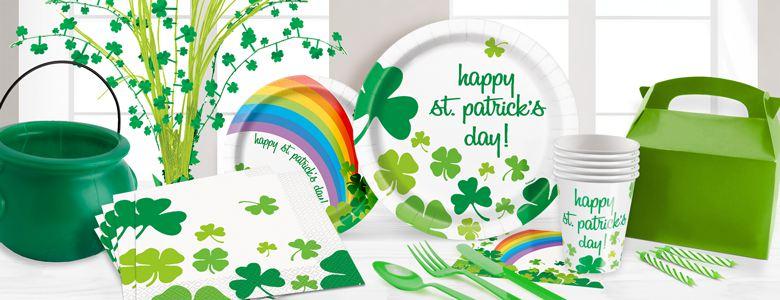 St Patrick's Day Tableware