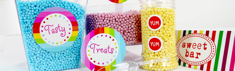 Sweet Jar Labels – Candy Buffet Labels | Delights Direct